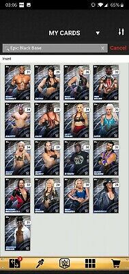 Topps WWE SLAM Digital 2019 Epic Black Base Complete Set Sasha Banks Award Ready