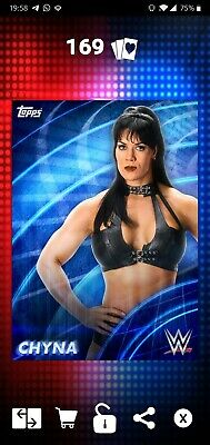 Topps WWE SLAM Digital 2019 Epic Blue Base Chyna