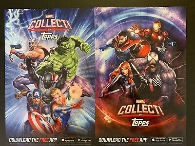New York Comic Con-Nycc 2019~Topps Exclusive Lot Of 2 Marvel Collect Posters New