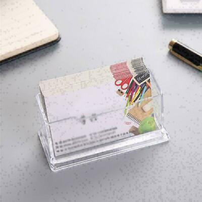 Clear Desktop Business Card Holder Display Stand Acrylic 10.3*4.3*4.2cm Hot O0V9