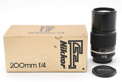 [Almost Mint in Box] Nikon Nikkor Ai-s 200mm f/4 Telephoto lens from JAPAN 899