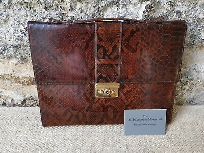 A stunning Antique Snakeskin Traveling Writing Case