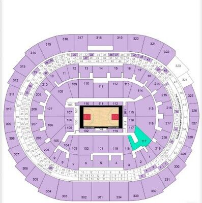 TWO 2 Tickets LA Clippers vs San Antonio Spurs Home Tunnel Section 117 Row 15