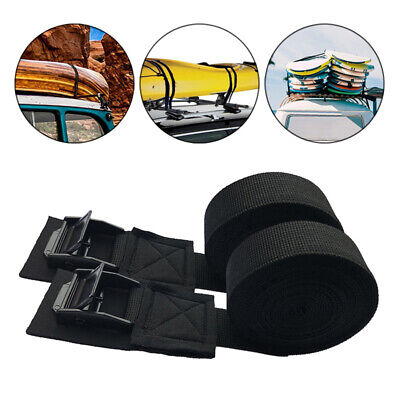 1 Pair Straps Tie Down Outdoor Kayak Surf Surfboard Luggage Durable Roof