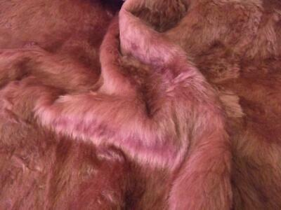 Plain Fun Faux Fur Fabric Material - ROSE