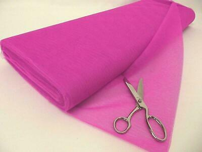 Dress Net 100% Polyester Tulle Fabric Material - FLO PINK