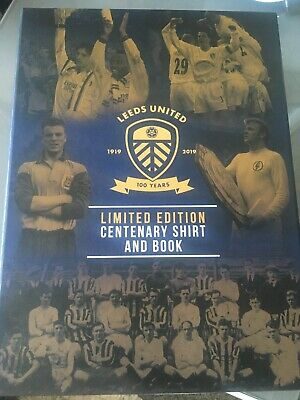 LEEDS UNITED 1919 CENTENARY SHIRT AND BOOK (Will Deliver If Local)