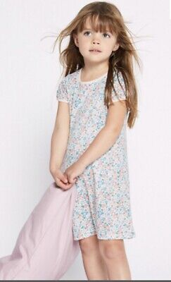 NEW M&S Girls Floral Nightdresses 2 Pack Size 1.5-2 YEARS BNWT Nightie 18-24 M