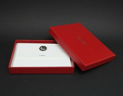 """Authentic Cartier """"Panthere"""" Note Cards Stationary Set Brand New"""
