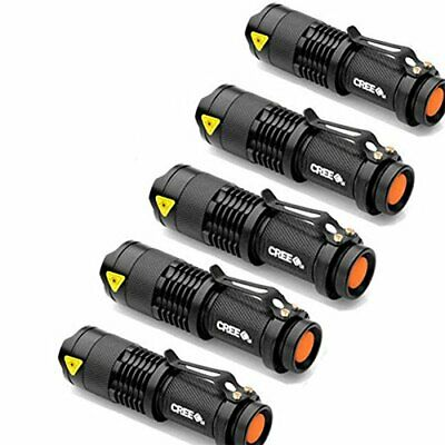 OZSTOCK  5x CREE Q5 LED Zoomable Focus Bright Flashlight Torch 1200LM Light AA