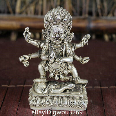 Collection Chinese Tibetan silver hand carved Tibetan Buddha statue