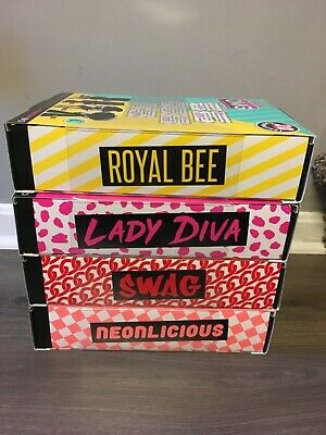 Lol surprise omg doll lot Lady diva Royal bee Swag Neonlicious