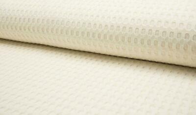 100/% Cotton WAFFLE Honeycomb Pique Fabric Material TAUPE BEIGE
