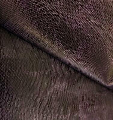 PU Leather Look Cloth Upholstery Fabric Material SNAKESKIN - PURPLE