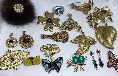 Signed Vintage Jewellery Job Lot Mixed Bundle