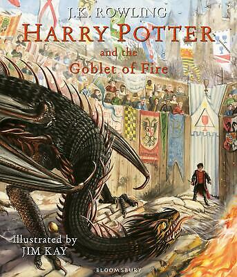 Harry Potter and the Goblet of Fire: Illustra by J.K. Rowling New Hardcover Book