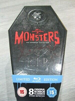 Universal Monsters: The Essential Collection 8 Disc (Coffin Box Set ) Blu-ray