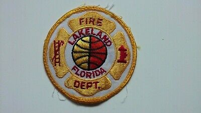 Lakeland Florida Fire Department Firefighter Cloth Patch