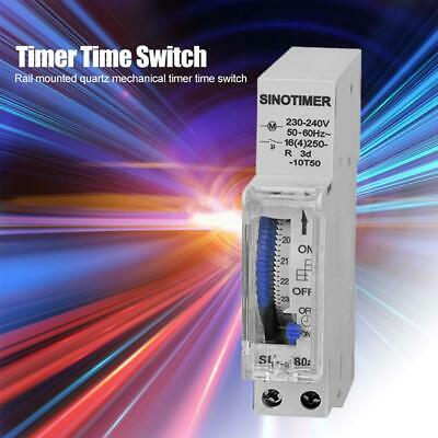 SUL180 DIN Rail Time Switch 24 Hours Programmable Mechanical Timer Switch Kit
