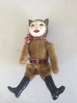 Very old very rare doll probably early 1900s or late 1800s Cat face