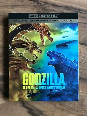 Godzilla: King of The Monsters (4K UHD, Blu-ray, Digital, Slipcover 2019) NEW