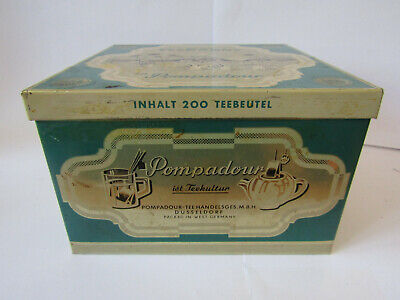 Teekanne - Vintage Pompadour Tin Box (1960s, West Germany) 200 Tea Bags