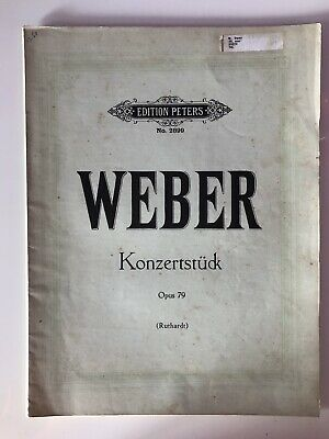 Weber Opus 79 Éditions PETERS