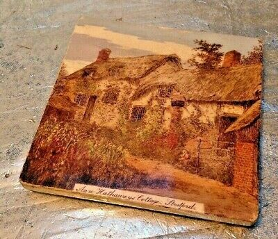 Rare Minton Tile Anne Hathaways Cottage Stafford - Trivet Tile - Lovely Tile