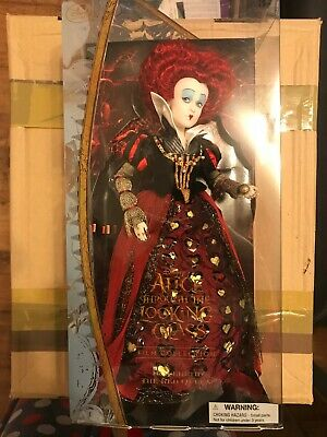 Disney Store Alice Through the Looking Glass Queen of Hearts RED QUEEN doll