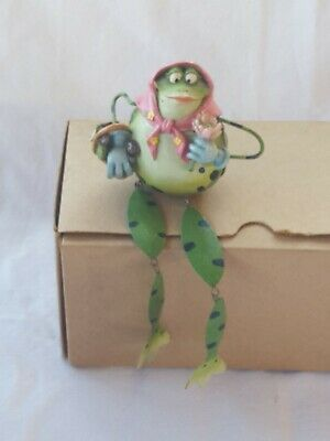 Frog Figurine Sitting Shelf Small Ornament Female Decor