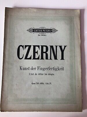 CZERNY Opus 740 Éditions PETERS