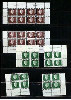 Canada #401, 402, 403, 405 (CA172) All Matched Sets plate blocks of 4, MNH, VF