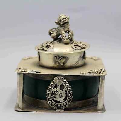 Collection Qianlong Years Old Miao Silver Carved Dragon & Phoenix Incense Burner