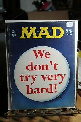 MAD MAGAZINE 115 We Don't Try Very Hard 1967 back issue collection vintage retro