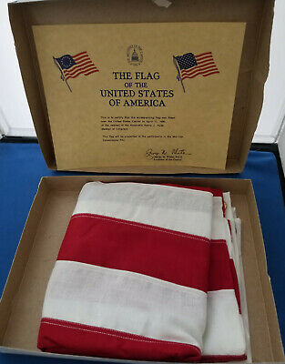 AMERICAN FLAG FLOWN OVER US CAPITAL in 1990 With Certificate Of Authenticity