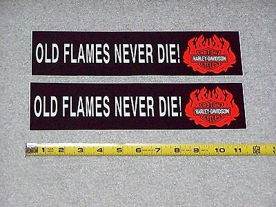 HARLEY DAVIDSON MOTORCYCLES OLD FLAMES tool box auto Bumper Sticker Lot Set