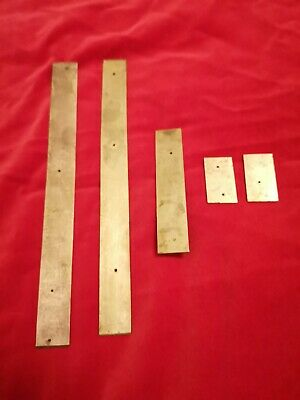 Brass trim pieces x 5 for antique/vintage writing slope.