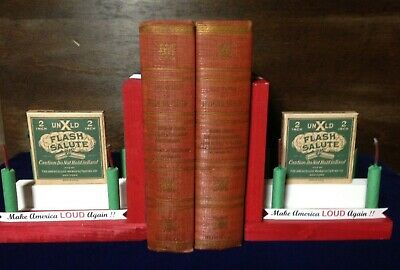 Firework Novelty Bookends  Reproduction Unexcelled 2 Inch Salute Firecracker Box