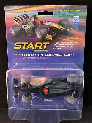 C4113 Scalextric Start F1 Racing Car G Force Racing Black  Slot Car 1:32