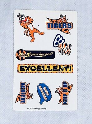 TONY THE TIGER FROSTED FLAKES STICKER 2000 EARN YOUR STRIPES KELLOGGS