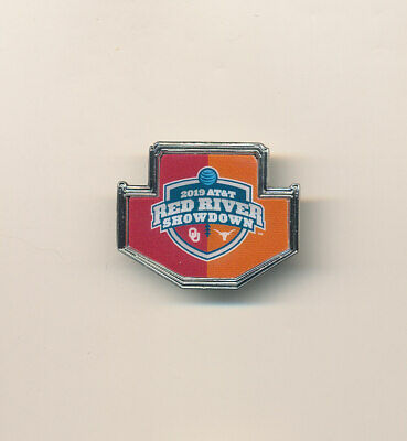 2019 Red River Showdown Oklahoma Sooners vs Texas NCAA College Football Pin