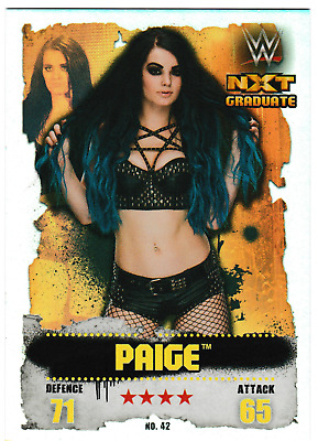 Paige wwe Euro Slam Attax Takeover 2016 Foil card #42