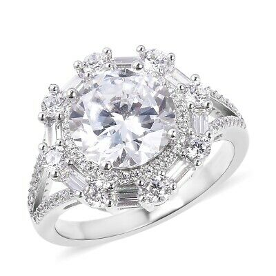 Cocktail Ring 925 Sterling Silver White Cubic Zirconia CZ Jewelry for Women Ct 6