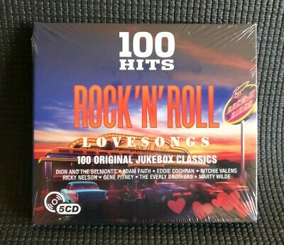 💓 100 Hits Rock 'N' Roll Love Songs - Dion Buddy Holly Gene Vincent - 5 Cds 💓