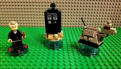Lego Dimensions Dr Who Level Pack 71204 - Tardis K9 Mini Figures COMPLETE!!