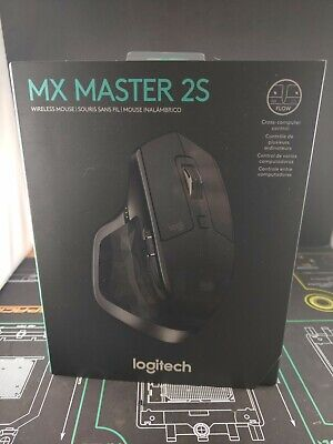 Logitech MX Master 2s Graphite Wireless Computer Laser Mouse Bluetooth 910