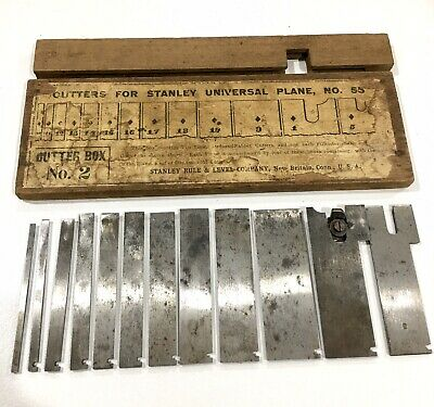 Cutter Box No 2 For Stanley Rule & Level Co Universal No 55 Plane Made In USA