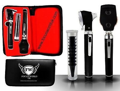 F.O Opthalmoscope,ophthalmoscope,Otoscope ENT Diagnostic Set.LED