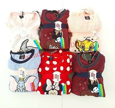 Primark Disney Ladies Fleece Pyjamas Women's Girl Soft Cosy Nightwear Loungewear