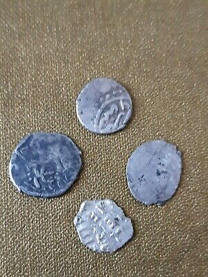 Job Lot Antique Ancient Medieval Middle Eastern Hammered Solid Silver Coins